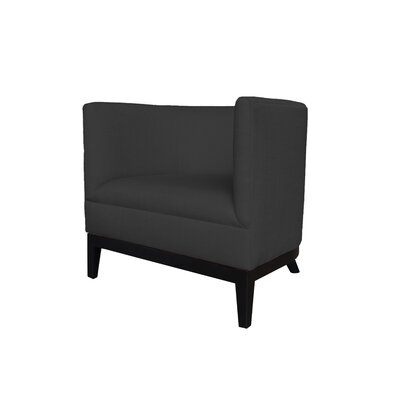 Victoria Round Barrel Chair Upholstery : Black