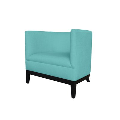Victoria Round Barrel Chair Upholstery : Blue
