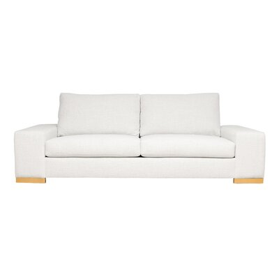 Harrison Mid-Century Modern Sofa Upholstery : White