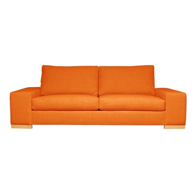 Harrison Mid-Century Modern Sofa Upholstery : Orange