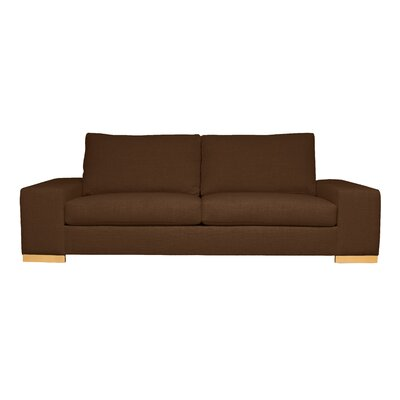 Harrison Mid-Century Modern Sofa Upholstery : Brown