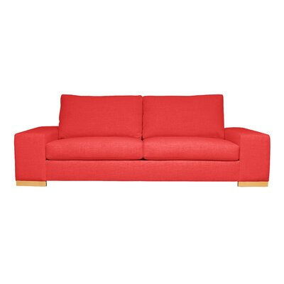 Harrison Mid-Century Modern Sofa Upholstery : Red
