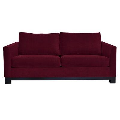 Baker Sofa Upholstery: Burgundy