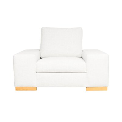 Harrison Club Chair Upholstery: White