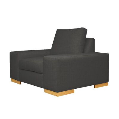 Harrison Club Chair Upholstery: Black