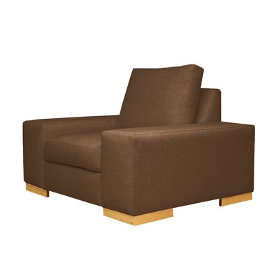 Harrison Club Chair Upholstery: Brown
