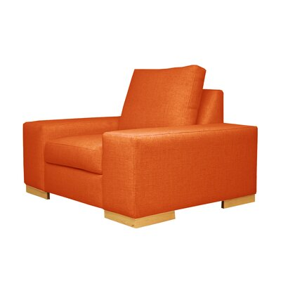 Harrison Club Chair Upholstery: Orange