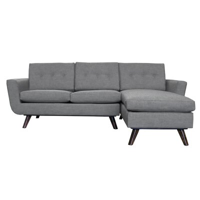 Callie Modern Reversible Sectional Upholstery: Gray