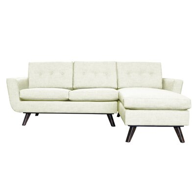 Callie Modern Reversible Sectional Upholstery: Biege