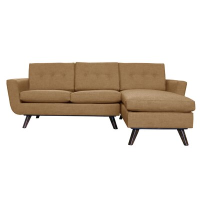 Callie Modern Chaise Sectional Upholstery: Brown