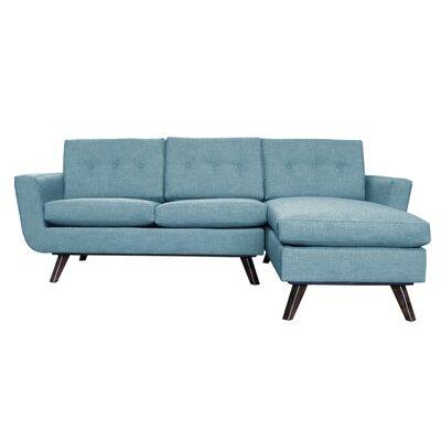 Callie Modern Reversible Sectional Upholstery: Blue