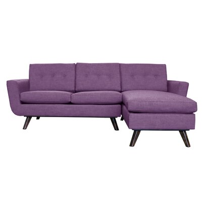 Callie Modern Reversible Sectional Upholstery: Purple