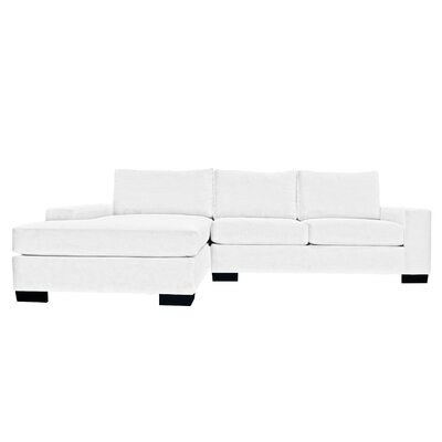 Dale Reversible Sectional Upholstery: White