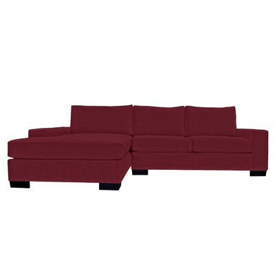 Dale Reversible Sectional Upholstery: Burgundy