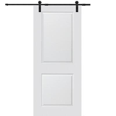 Verona Home Design Cambridge MDF 2 Panel Interior Door - Finish: Matte Black, Opening Width: 32