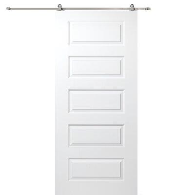 Verona Home Design Rockport MDF 5 Panel Interior Door - Finish: Stainless Steel, Opening Width: 32