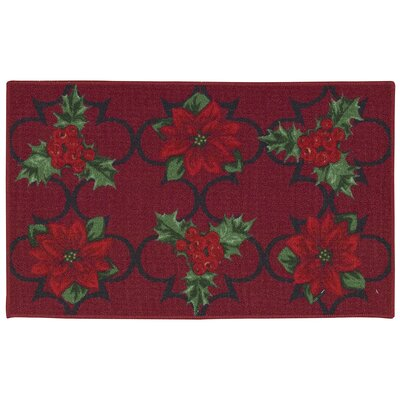 Winter Red Area Rug Rug Size: Rectangle 18 x 29