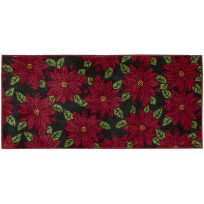 Winter Black Area Rug Rug Size: 110 x 3