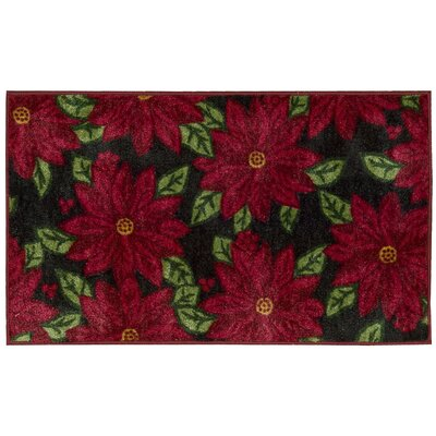 Winter Black Area Rug Rug Size: Rectangle 16 x 26