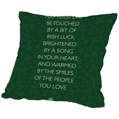 Brett Wilson St. Patricks Day Throw Pillow Size: 18 H x 18 W x 2 D