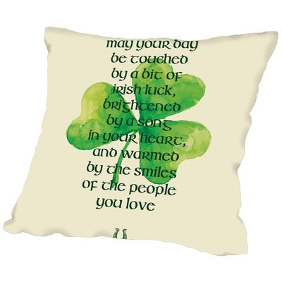 Brett Wilson May Your Day Be Touched Throw Pillow Size: 20 H x 20 W x 2 D