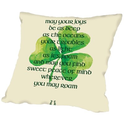 Brett Wilson St. Patricks Day Throw Pillow Size: 20 H x 20 W x 2 D