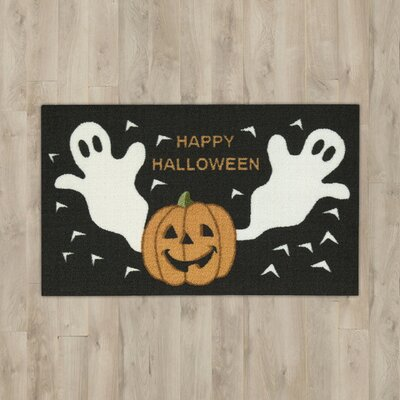 Ghost & Pumpkins Black Area Rug