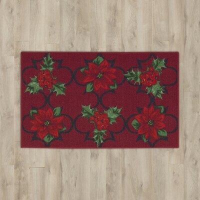Winter Red Area Rug Rug Size: Rectangle 18 x 411