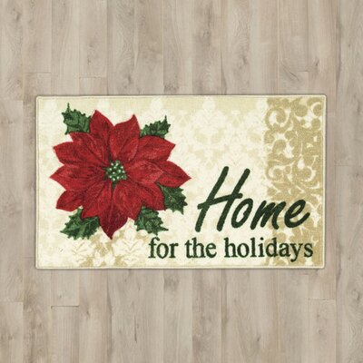 Home for the Holidays Beige Area Rug