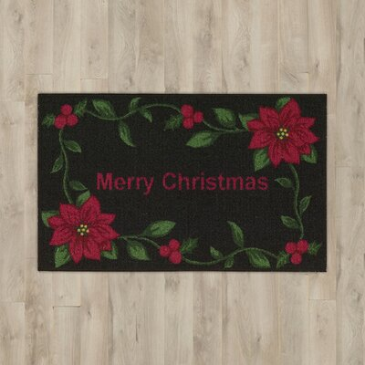 Winter Black Area Rug Rug Size: 18 x 29
