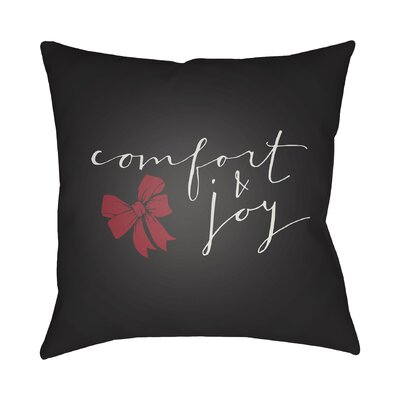 Comfort & Joy Indoor/Outdoor throw cushion Size: 18