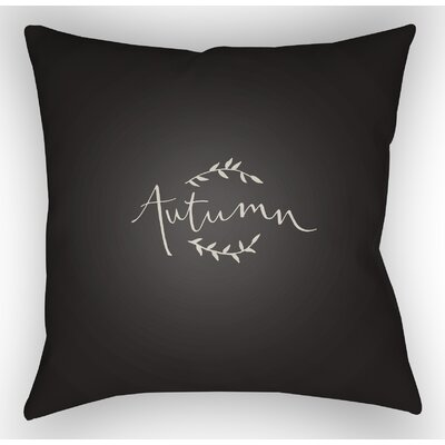 Autumn Indoor/Outdoor Throw Pillow Size: 18 H x 18 W x 4 D, Color: Black/White