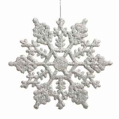 Glitter Snowflake Christmas Christmas Ornament Color: Silver