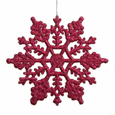 Glitter Snowflake Christmas Ornament Color: Mulberry Pink