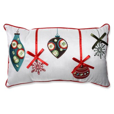 Holiday Ornaments Lumbar Pillow Color: Red / Green