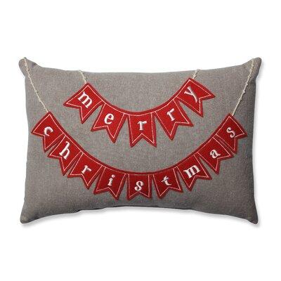 Merry Christmas 100% Cotton Lumbar Pillow