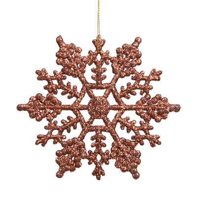 Glitter Snowflake Christmas Ornament Color: Mocha