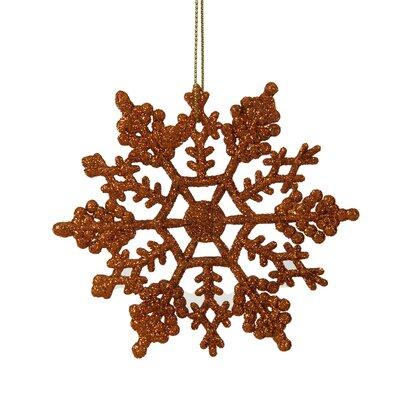 Glitter Snowflake Christmas Ornament Color: Burn Orange