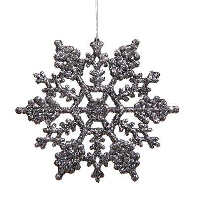 Glitter Snowflake Christmas Ornament Color: Pewter Glitter