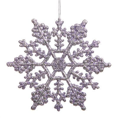 Glitter Snowflake Christmas Ornament Color: Lavender