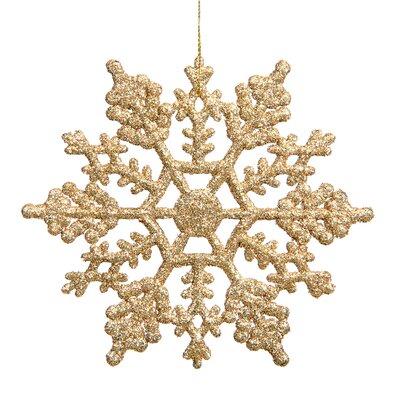 Glitter Snowflake Christmas Ornament Color: Gold