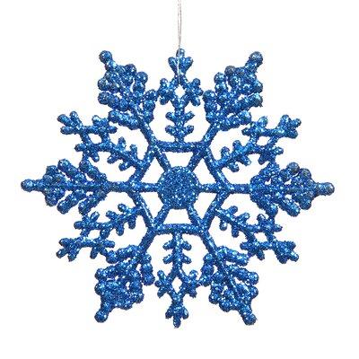 Glitter Snowflake Christmas Ornament Color: Blue