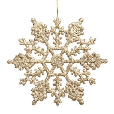 Glitter Snowflake Christmas Ornament Color: Champagne
