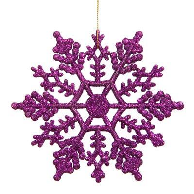 Glitter Snowflake Christmas Ornament Color: Purple