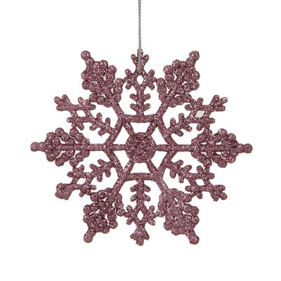 Glitter Snowflake Christmas Ornament Color: Pink