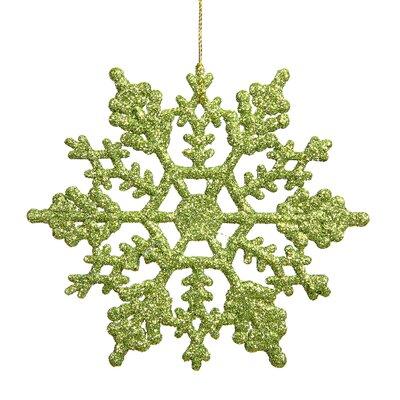 Glitter Snowflake Christmas Ornament Color: Lime