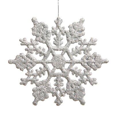 Glitter Snowflake Christmas Ornament Color: Silver