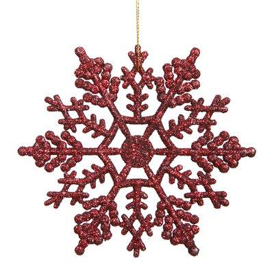 Glitter Snowflake Christmas Ornament Color: Burgundy