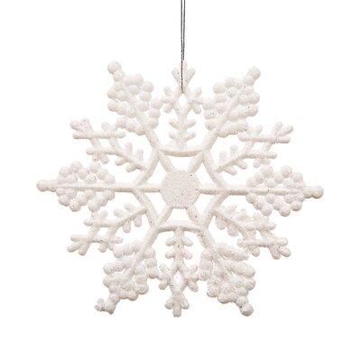 Glitter Snowflake Christmas Ornament Color: White