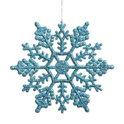 Glitter Snowflake Christmas Ornament Color: Turquoise